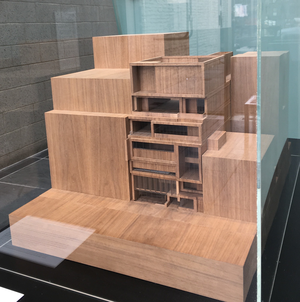A model of the new Studio Museum in Harlem by Adjaye Associates