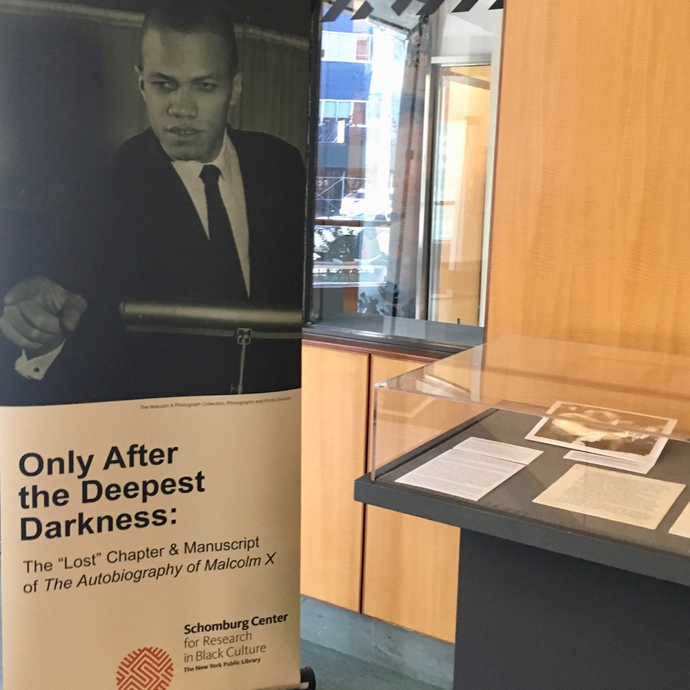 "Sections of the ""lost chapter"" of Malcolm X's autobiography are on view at the Schomburg"