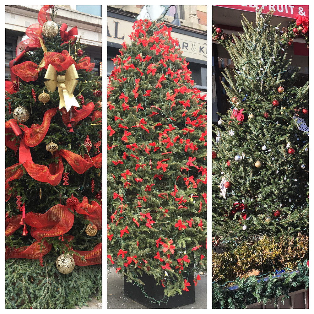 Holiday trees at Red Rooster, Corner Social and Jacob Restaurant