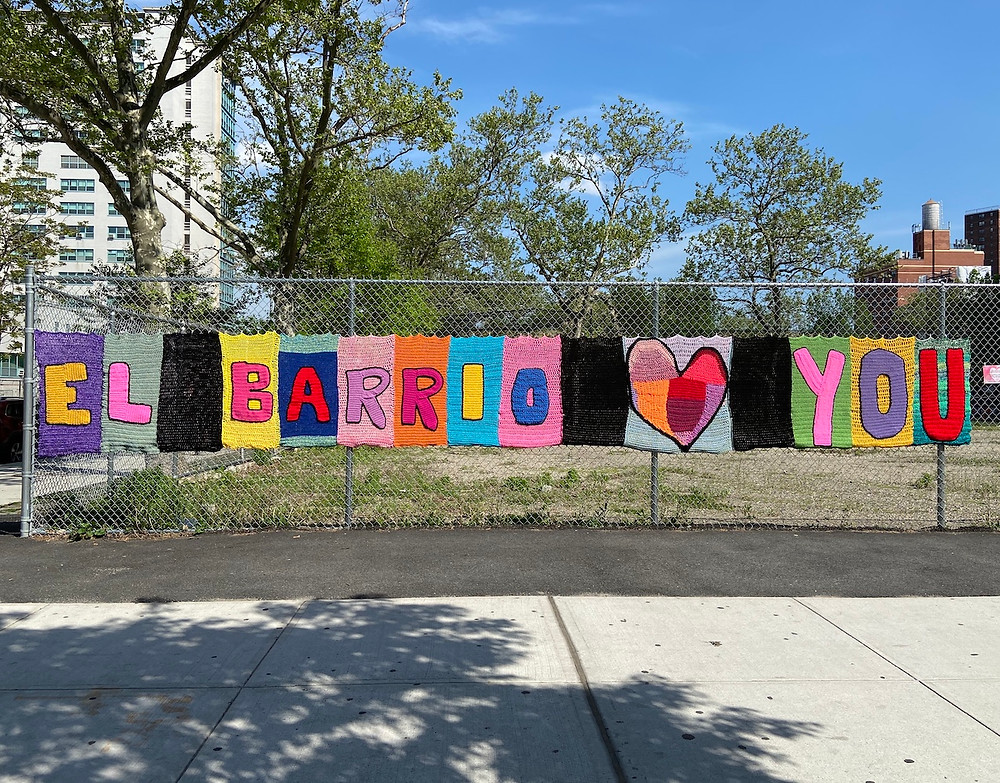 """El Barrio Loves You"" by El Barrio Crochet Collective"