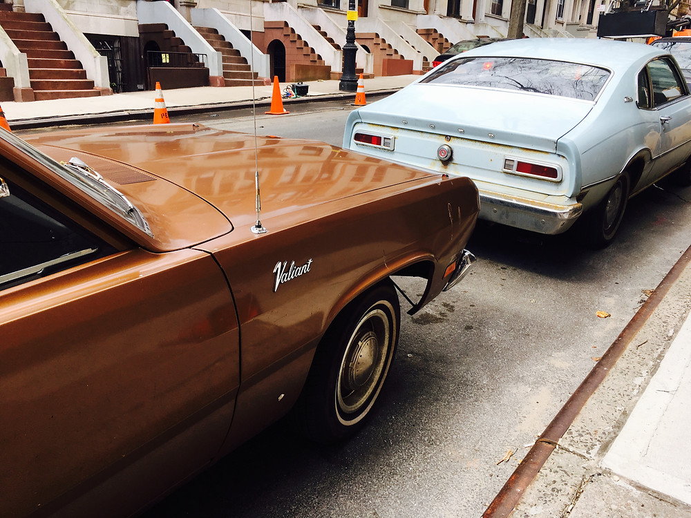 "Vintage cars on the set of Ryan Murphy's ""Pose"" in Harlem"