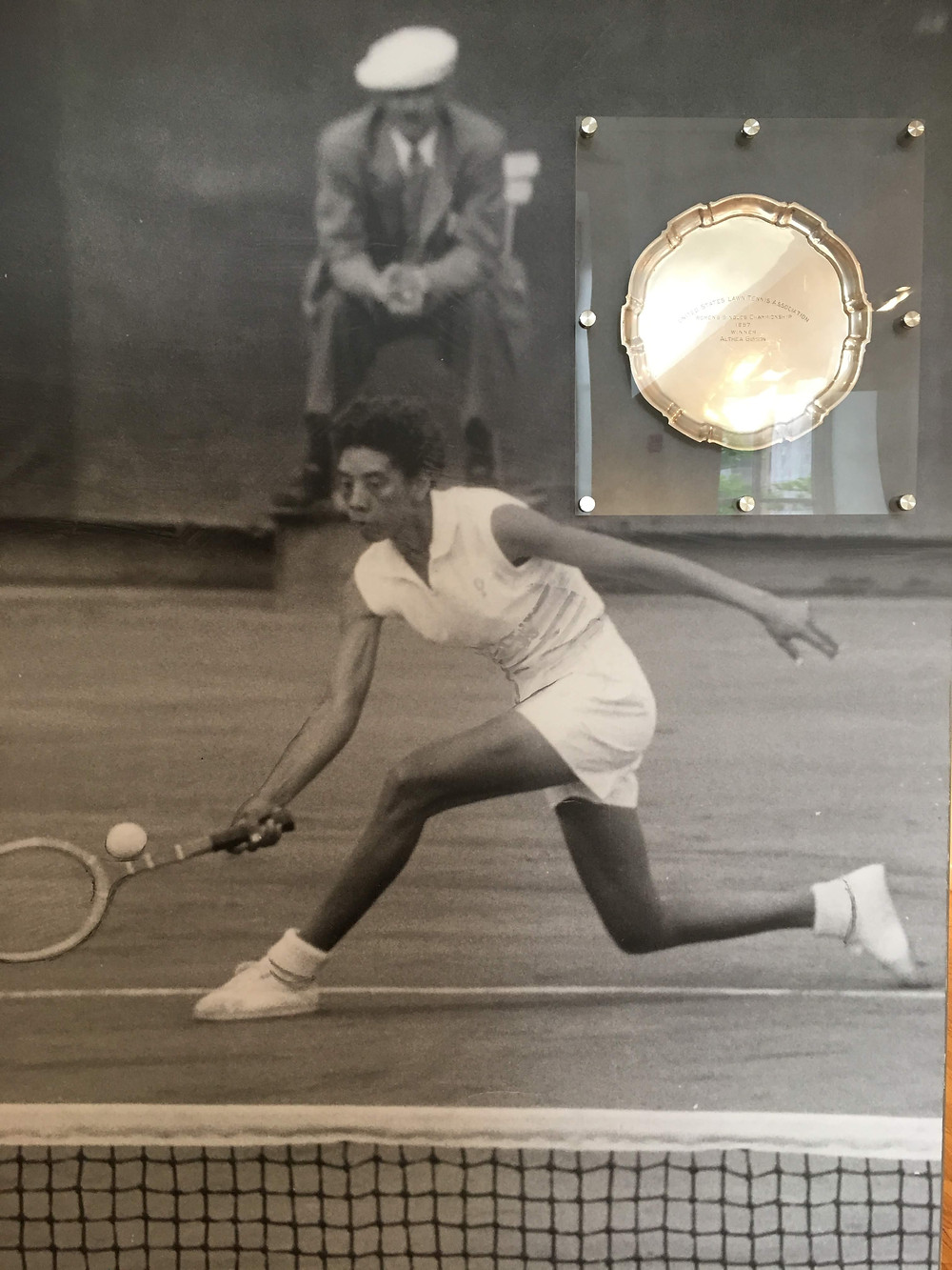 Althea Gibson's tennis outfit, racket and U.S. Open trophy are hiding in plain sight at this Harlem exhibit