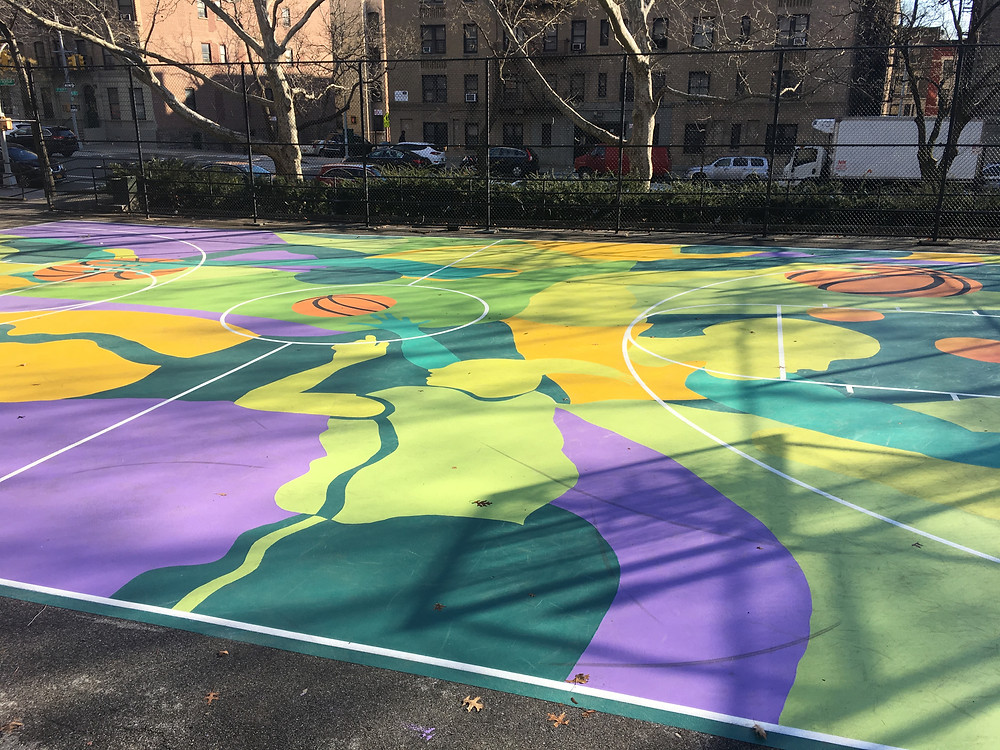 Look down to spot the latest mural by MADSTEEZ in Harlem