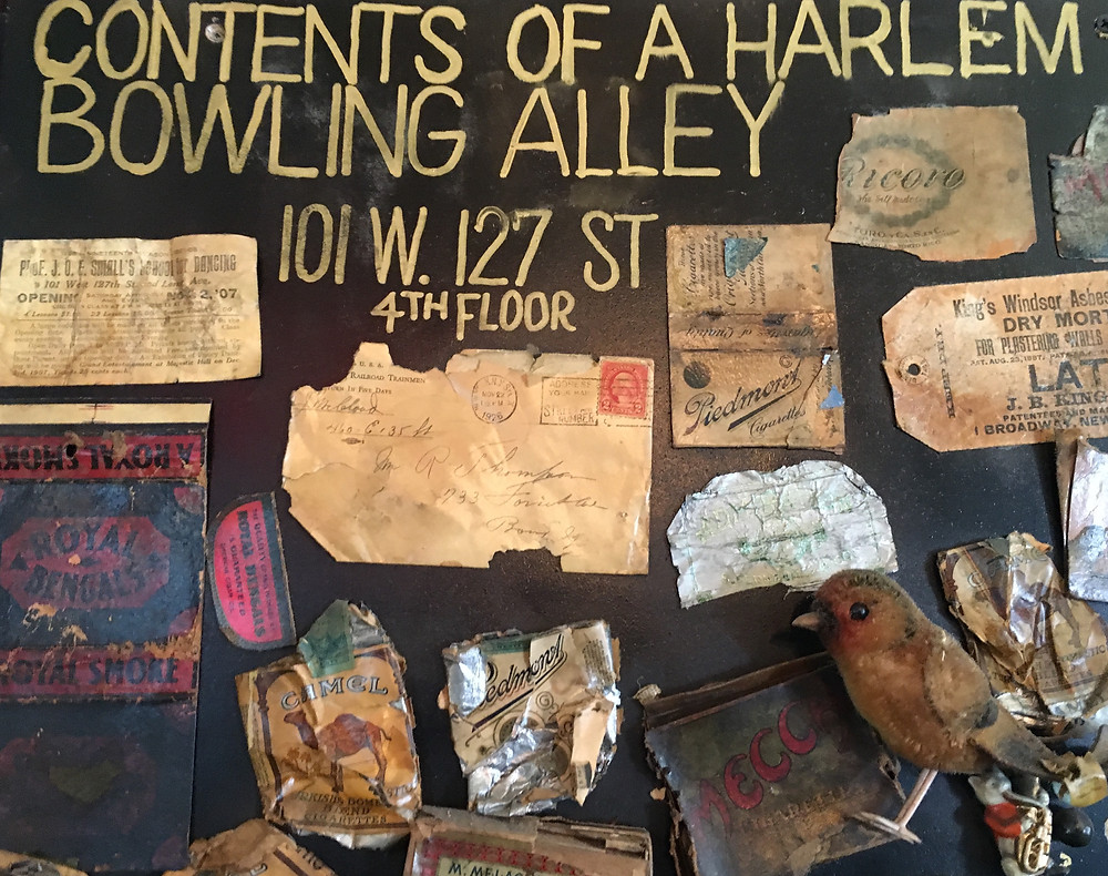 """""""Contents of a Harlem Bowling Alley"""" at Harlem Ale House"""
