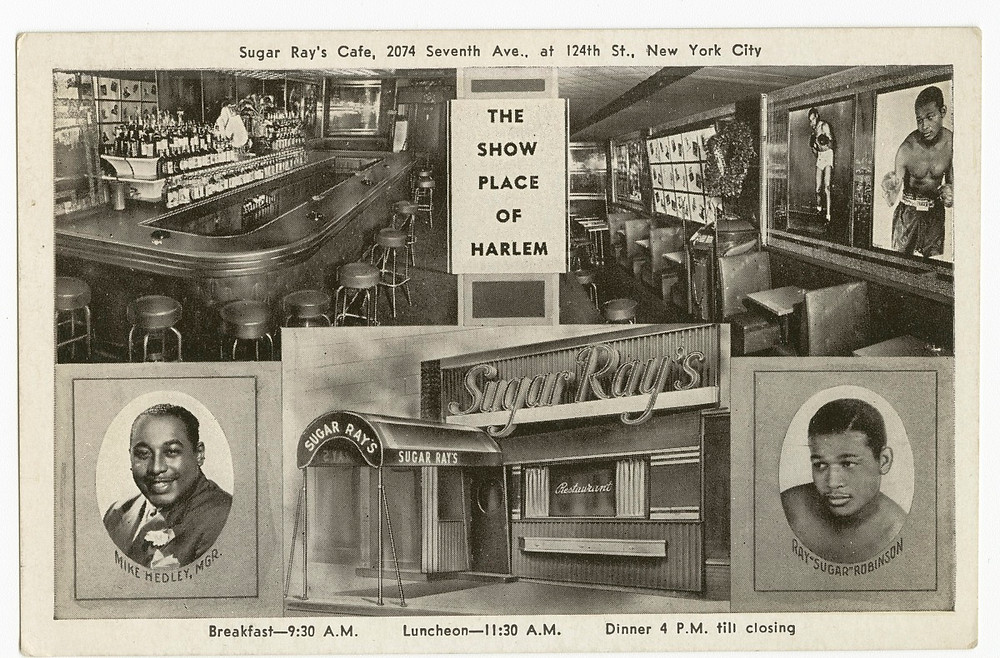Harlem throwback: Postcard for Sugar Ray's Cafe Collection of the Smithsonian National Museum of African American History and Culture, Gift of Vicki Gold Levi