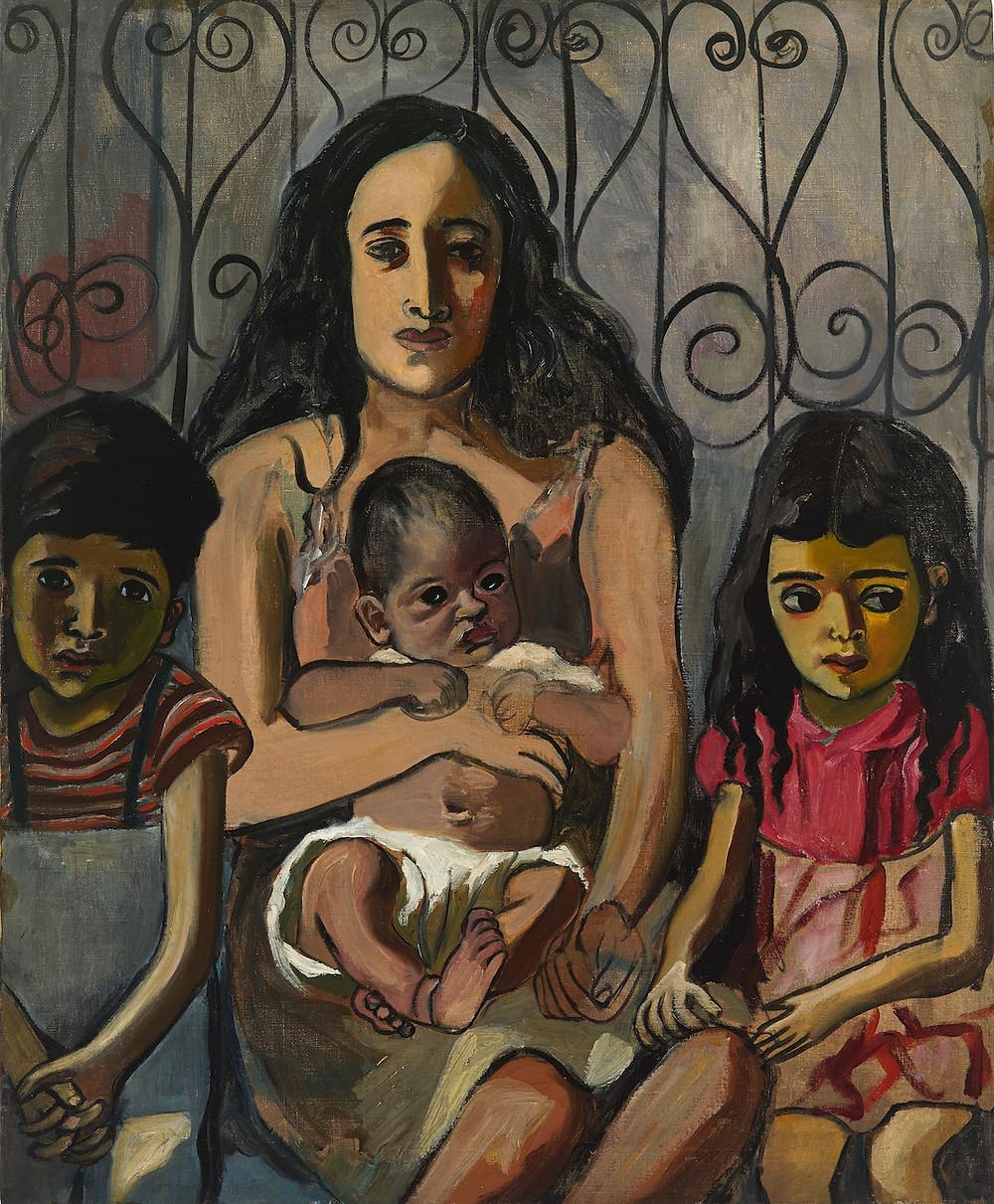 Alice Neel, The Spanish Family, 1943