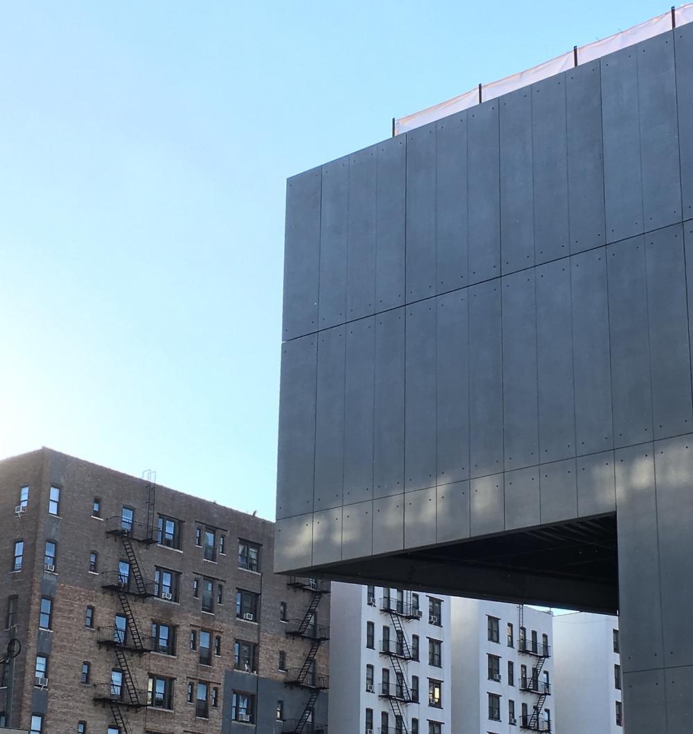 The new University Forum on Columbia's Manhattanville campus