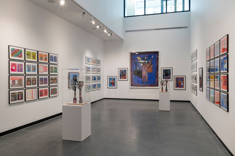 Art inspired by Faith Ringgold's Harlem home at the Sugar Hill Children's Museum
