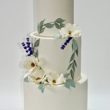 Painted Wreath Cake