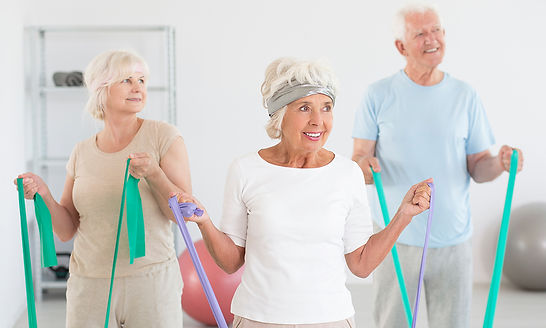 קבוצת מבוגרים בטיפול פיזיותרפי