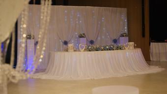 Brauttisch schlicht weiß