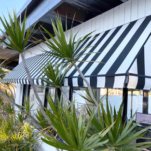 Canopy wedge awning