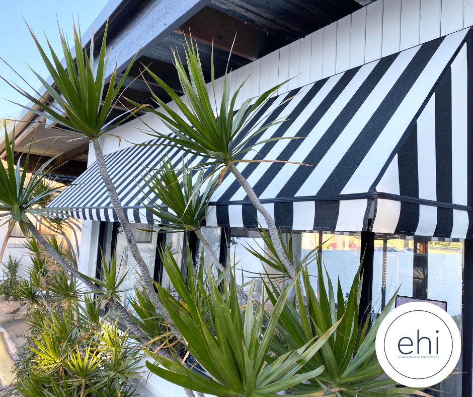 Striped Canopy Awnings
