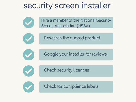 How to choose your security screen installer.