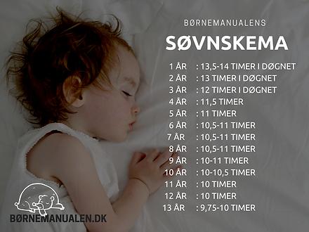 hvor meget skal børn sove