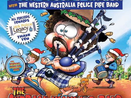 Kevin Bloody Wilson Teams Up With WA Police Pipe Band For Legacy