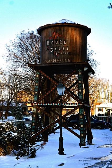Snowy Watertower