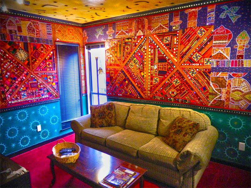 Studio B's private lounge