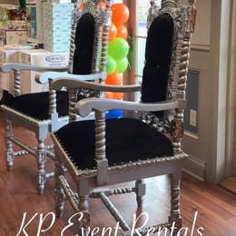 Black & Silver Crown Chair