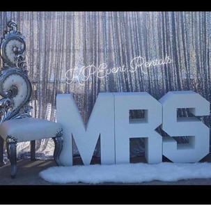 "Bridal Shower ""Mrs."" Table"