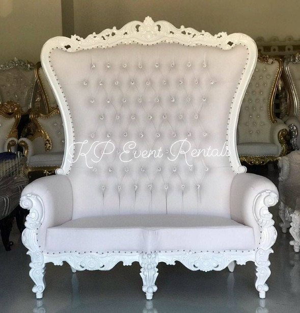 All White Love Seat