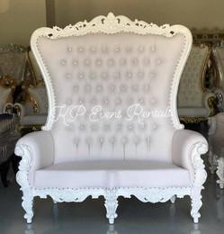 All White Love Seat