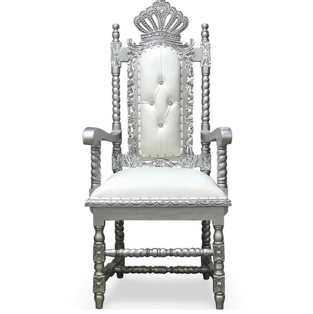 Silver Crown Chair
