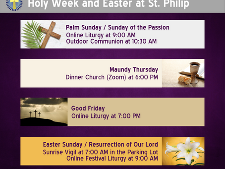 Holy Week and Easter at St. Philip