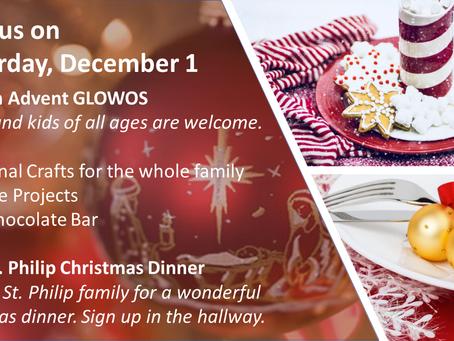 Advent Event - Saturday Dec 1st!