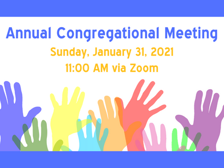 2021 Annual Congregational Meeting