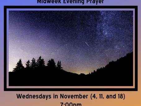 Midweek Evening Prayer - Wednesdays in November