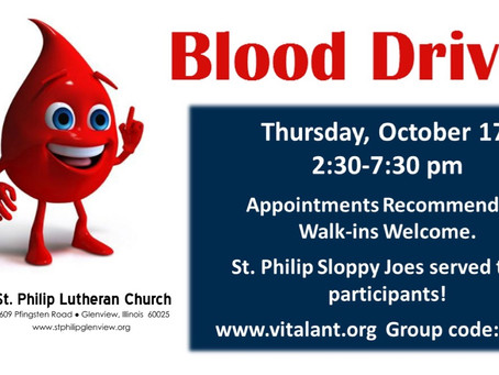 Sign up for the Annual Blood Drive!