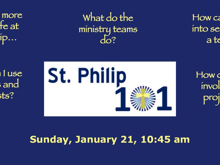 Interested in learning more about St. Philip?
