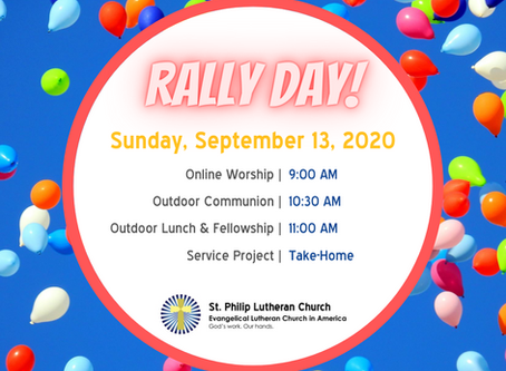 Rally Day 2020 at St. Philip