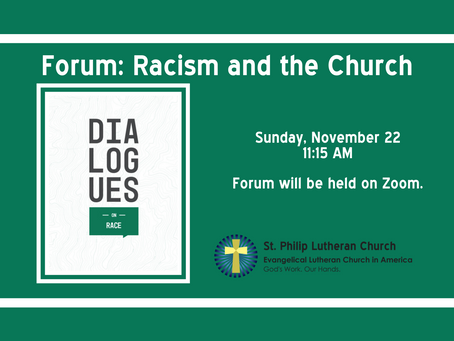 November Forum - Racism and the Church