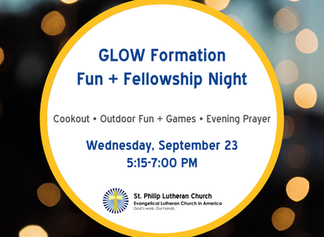 GLOW Formation - Wednesday, September 23