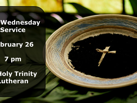 Join us for Ashes at Holy Trinity, Glenview