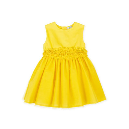 yellow flowers dress tulle occasion dress