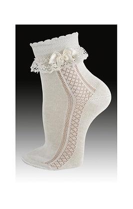Carlomagno Girls'Ceremony Ankle Socks