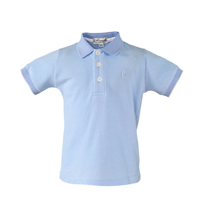 Miranda Boys' Sky Blue Polo Shirt