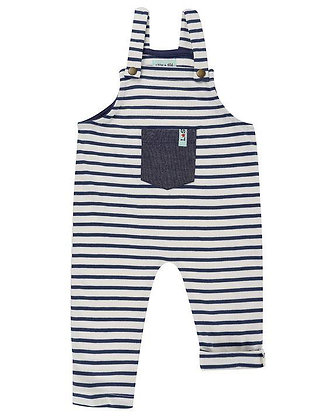 Bbay Boys Stripe Dungaree Organic Romper Pocket
