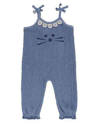 Lilly and Sid Character Face Dungaree Organic Cotton