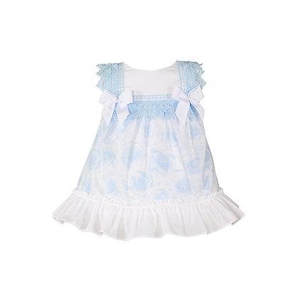 Miranda blue and white dress & knickers set