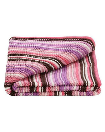Lilly and Sid Organic Baby Girls Knitted Blanket