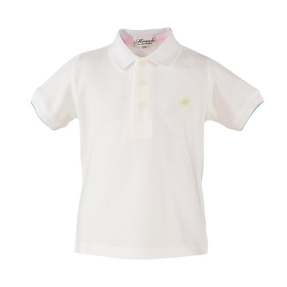 Baby Boys White Polo shirt cotton