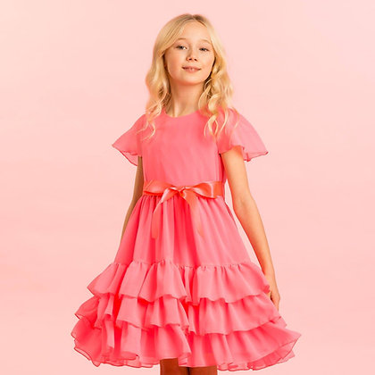 Holly Hastie Girls Party Dress Candy Floss Pink