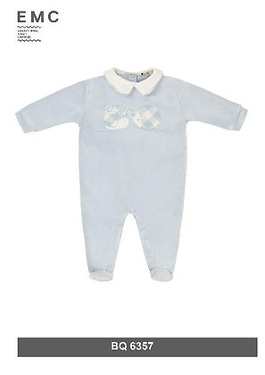 EMC Baby Boy Light Blue Snail and Hedgehog Babygrow