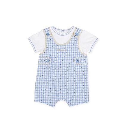 Romper Boys Baby Gingham Blue