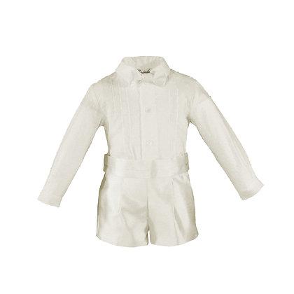 Miranda Boys Page boy wedding formal white shirt shorts bowtie