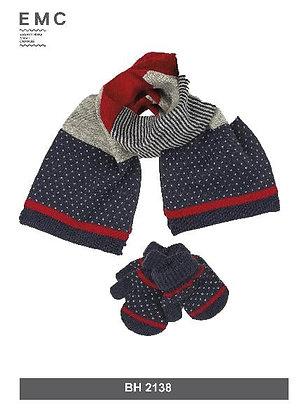 EMC Baby Boy Scarf and Gloves Set